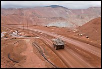 Mining truck carrying rocks, Morenci. Arizona, USA ( color)