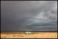 Trailer and storm sky. Arizona, USA ( color)