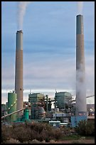 Smokestacks, Cholla generating station,. Arizona, USA ( color)