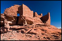 Wukoki pueblo, Wupatki National Monument. Arizona, USA (color)