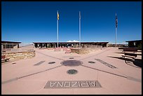 Four Corners Quadripoint. Four Corners Monument, Arizona, USA (color)