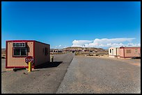 Mobile buildings at entrance. Four Corners Monument, Arizona, USA (color)