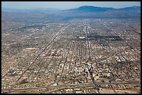 Aerial view of downtown Tucson and street grid. Tucson, Arizona, USA ( color)