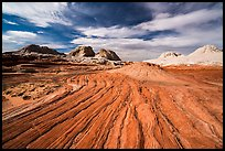 Red swirl, White Pocket. Vermilion Cliffs National Monument, Arizona, USA ( color)
