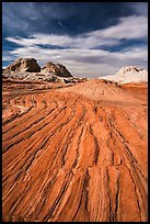 Sandstone swirl, White Pocket. Vermilion Cliffs National Monument, Arizona, USA ( color)