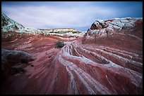 Sandstone streaks, White pocket. Vermilion Cliffs National Monument, Arizona, USA ( color)