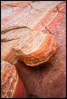Detail of striations and rock, Coyote Buttes South. Vermilion Cliffs National Monument, Arizona, USA ( color)