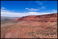 Aerial distant view of Vermillion Cliffs. Vermilion Cliffs National Monument, Arizona, USA ( color)