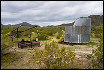 Abandonned farming equipment. Sonoran Desert National Monument, Arizona, USA ( color)