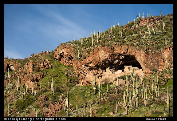 Lower cliff dwelling, Tonto National Monument. Tonto Naftional Monument, Arizona, USA (color)