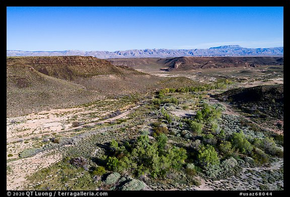 Aerial view of Pakoon Springs. Grand Canyon-Parashant National Monument, Arizona, USA (color)