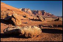 Boulders and Vermillion Cliffs. Vermilion Cliffs National Monument, Arizona, USA ( )