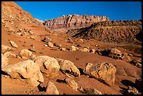 Rocks and cliffs near Cliffs Dwellers. Vermilion Cliffs National Monument, Arizona, USA ( color)