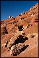 Rocks on slope. Vermilion Cliffs National Monument, Arizona, USA ( color)