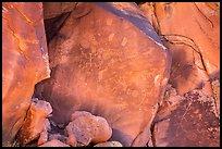 Rocks with numerous petroglyphs. Vermilion Cliffs National Monument, Arizona, USA ( )