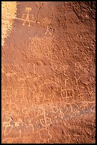 Maze Rock petroglyph panel. Vermilion Cliffs National Monument, Arizona, USA ( color)