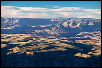 Dansill Canyon and Parashant Canyon from Mt Logan. Grand Canyon-Parashant National Monument, Arizona, USA ( color)