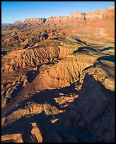 Aerial view of Vermillion Cliffs, early morning. Vermilion Cliffs National Monument, Arizona, USA ( color)