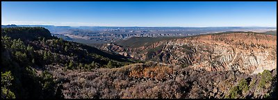 Grand Canyon and Hells Hole from Mount Logan. Grand Canyon-Parashant National Monument, Arizona, USA (Panoramic color)