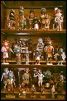 Ritual Hopi Kachina figures. Hubbell Trading Post National Historical Site, Arizona, USA ( color)