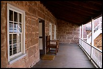 Interior porch of Winsor Castle. Pipe Spring National Monument, Arizona, USA
