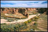 Canyon de Chelly from Tsegi Overlook, mid-morning. Canyon de Chelly  National Monument, Arizona, USA ( color)