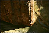 Light and shadows cast by the steep walls of Canyon de Muerto. Canyon de Chelly  National Monument, Arizona, USA ( color)