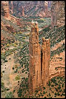 Spider Rock. Canyon de Chelly  National Monument, Arizona, USA ( color)