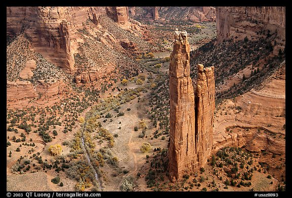 Spider Rock. Canyon de Chelly  National Monument, Arizona, USA