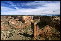 Spider Rock and skies. Canyon de Chelly  National Monument, Arizona, USA