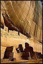 White House Ancestral Pueblan ruins. Canyon de Chelly  National Monument, Arizona, USA ( color)