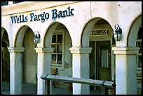 Arcades of Wells Fargo Bank, Old Tucson Studios. Tucson, Arizona, USA (color)
