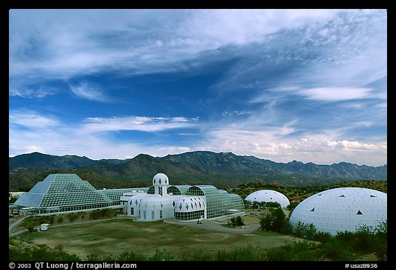 View of the complex. Biosphere 2, Arizona, USA