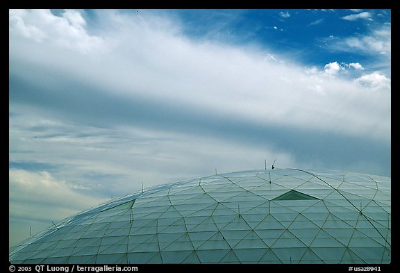 Dome and clouds. Biosphere 2, Arizona, USA (color)