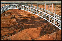 Bridge near the Glen Canyon Dam, Glen Canyon National Recreation Area, Arizona. USA