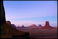 Buttes and Mesas from North Window, dusk. Monument Valley Tribal Park, Navajo Nation, Arizona and Utah, USA