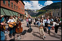 Live musicians on main street. Telluride, Colorado, USA