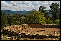 Archeological ruins. Chimney Rock National Monument, Colorado, USA (color)