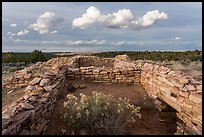 Ruined walls, Lowry Pueblo. Canyon of the Anciens National Monument, Colorado, USA ( color)