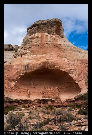 Saddlehorn Pueblo. Canyon of the Anciens National Monument, Colorado, USA (color)