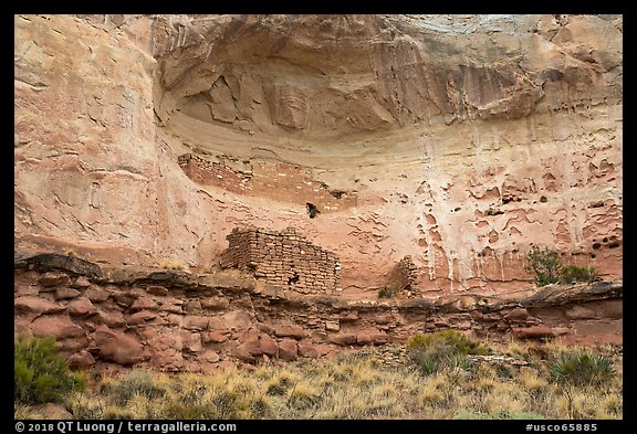 Double Cliff House. Canyon of the Ancients National Monument, Colorado, USA (color)