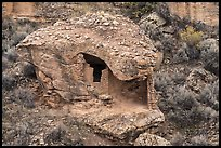 Eroded Boulder House. Hovenweep National Monument, Colorado, USA ( color)