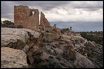 Hovenweep Castle and canyon rim. Hovenweep National Monument, Colorado, USA ( color)
