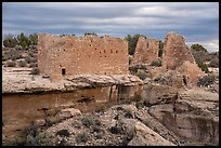 Hovenweep Castle across canyon. Hovenweep National Monument, Colorado, USA ( color)