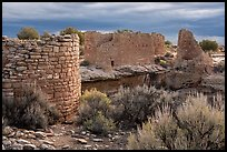 Hovenweep House and Hovenweep Castle. Hovenweep National Monument, Colorado, USA ( color)