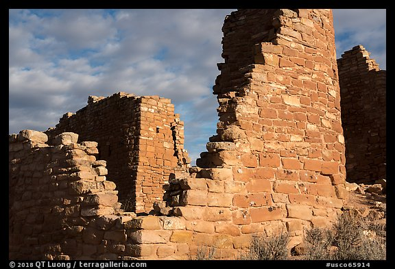 Hovenweep Castle walls. Hovenweep National Monument, Colorado, USA (color)