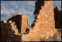 Hovenweep Castle walls. Hovenweep National Monument, Colorado, USA ( color)