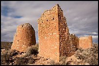 Hovenweep Castle with tower. Hovenweep National Monument, Colorado, USA ( color)