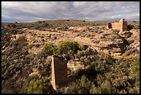 Square Tower and Hovenweep House. Hovenweep National Monument, Colorado, USA ( color)