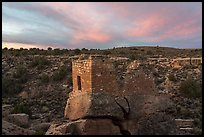 Stronghold House, sunrise. Hovenweep National Monument, Colorado, USA ( color)
